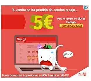 5€ DE DESCUENTO POR COMPRA SUPERIOR A 60€  HASTA EL 28/02