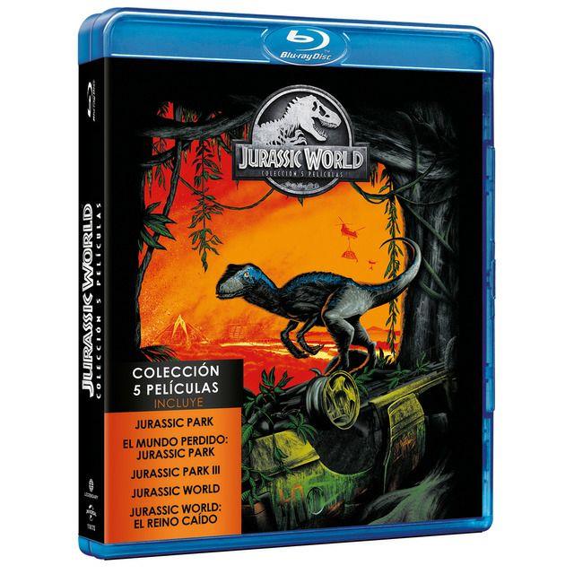 Parque Jurásico; Películas 1-5 (Blu-Ray)
