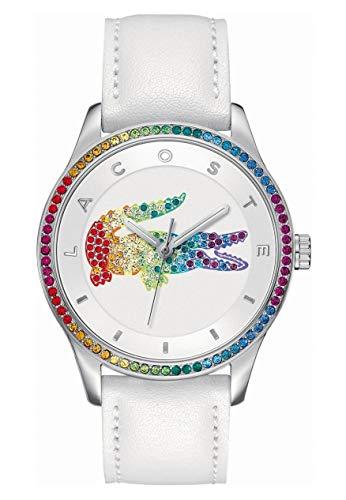 35ed05209879 Lacoste 2000822 - Reloj análogico de cuarzo con correa de cuero para mujer