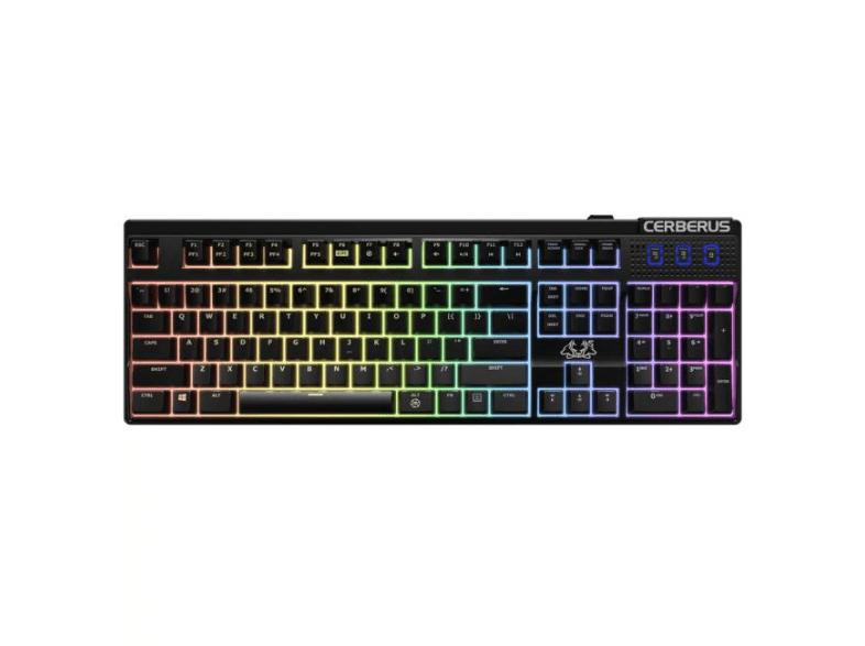 Teclado Gaming - Asus Cerberus Mech, RGB, USB, Anti-ghosting, Negro
