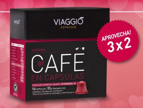 3x2 en cápsulas compatibles Nespresso Viaggio (variedad Verona)