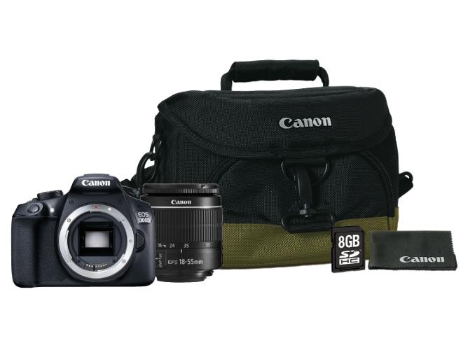 Cámara Reflex Canon 1300D + objetivo 18-55DC III + funda +tarjeta memoria por solo