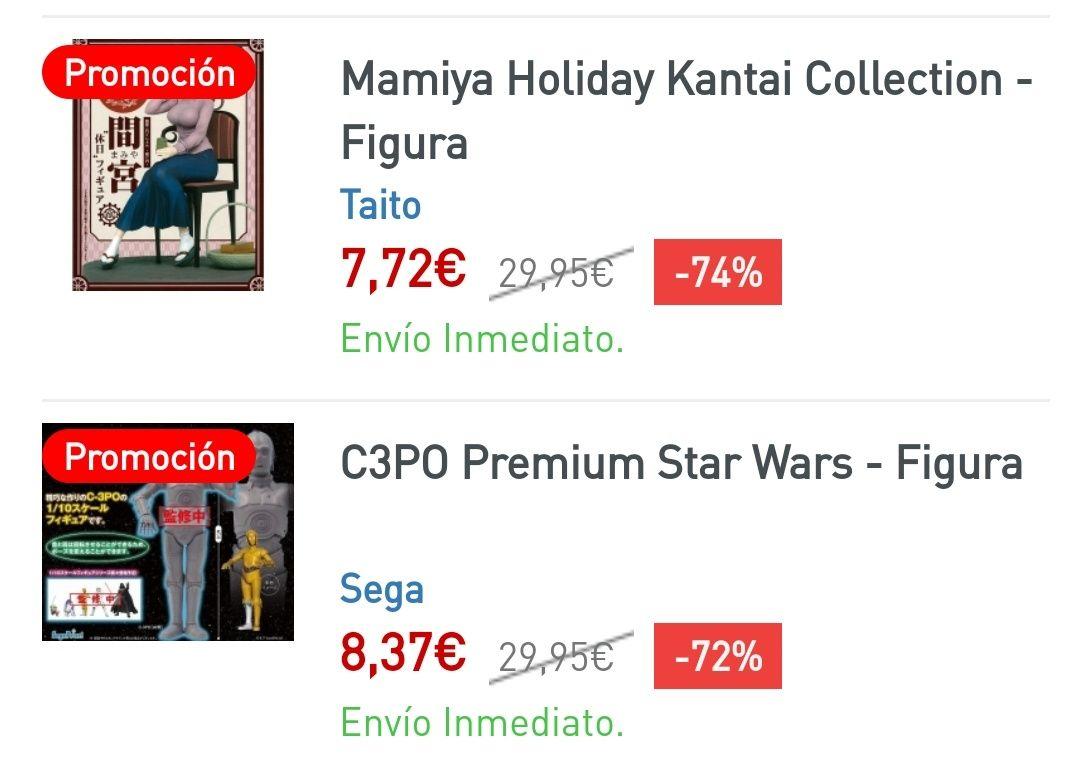 Liquidación: Figuras Star Wars y Manga