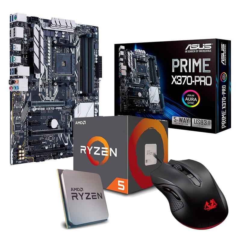 Asus Prime X370-PRO + AMD Ryzen 5 2600X + Asus Cerberus Gaming - Bundle