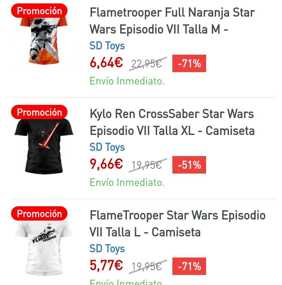 Liquidación: Camisetas Star Wars (-70%)