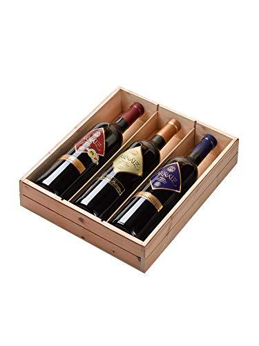Viña Arnaiz Estuche de Madera. Surtido de Vino: Reserva, Crianza, Roble - 3 botellas x 750 ml - Total: 2250 ml