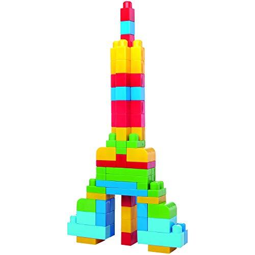 Mega Bloks Bolsa clásica con 60 bloques de construcción, juguete para bebé +1 año
