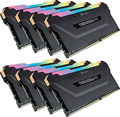 Corsair Vengeance RGB Pro, 64 GB (8 x 8 GB), DDR4, 3000 MHz, C15, XMP 2.0