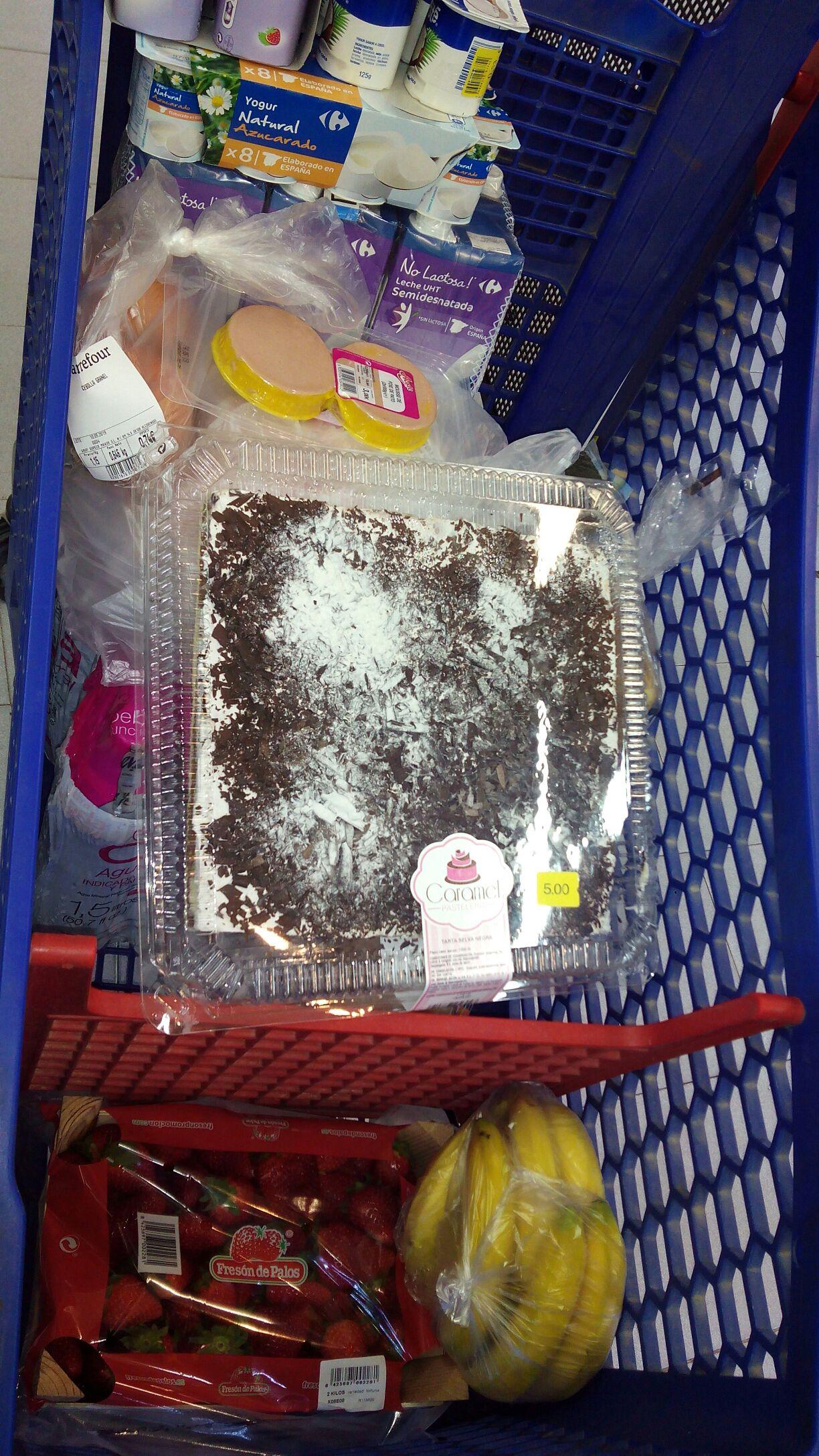 Tartas baratitas en Carrefour Figueras