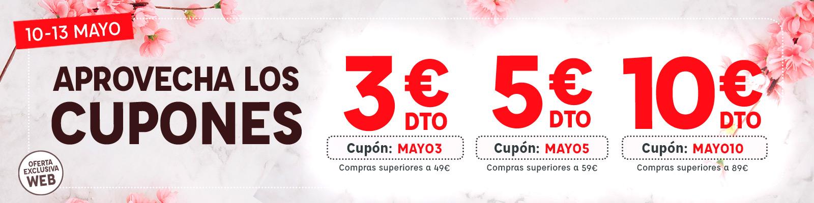 3, 5, y 10 euros de descuento Kiwoko a compras superiores a 49, 59, 89 euros.