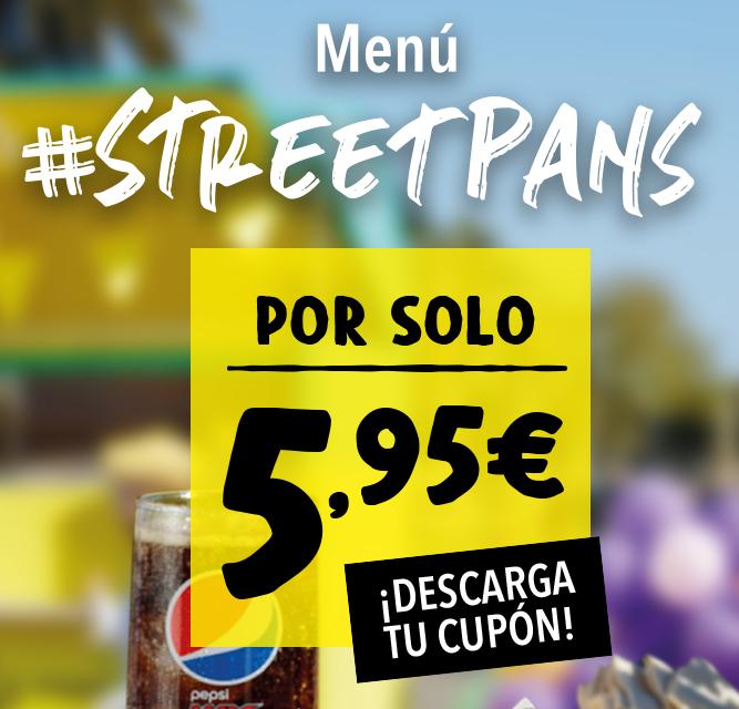 Menú Street Pans por 5,95€