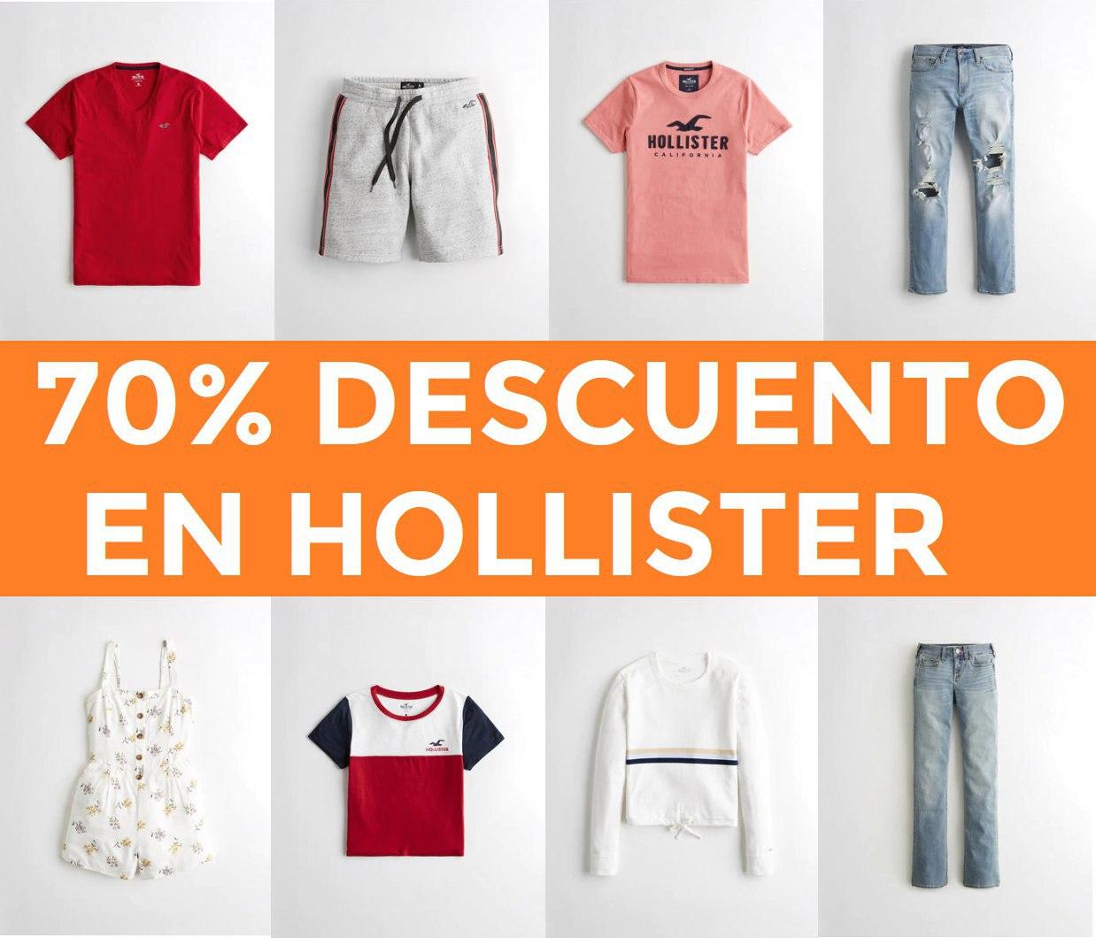 70% descuento en Hollister