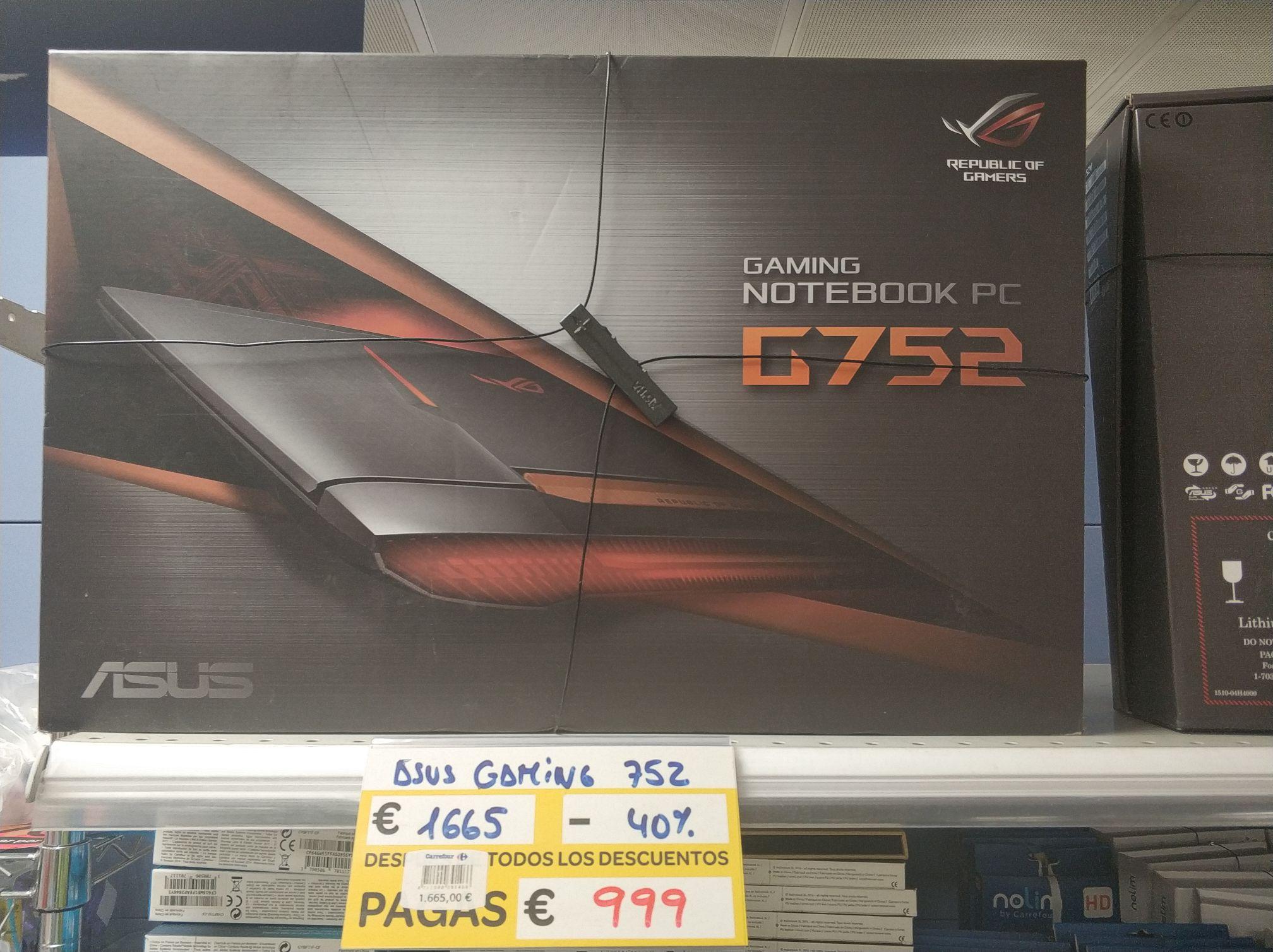 Portatil gaming Carrefour Outlet el Prat