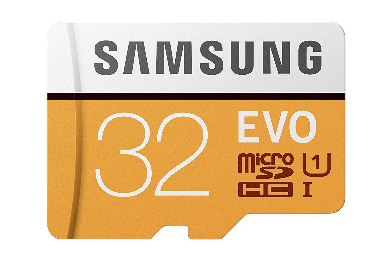 Samsung EVO 32GB MicroSDHC con adaptador Naranja