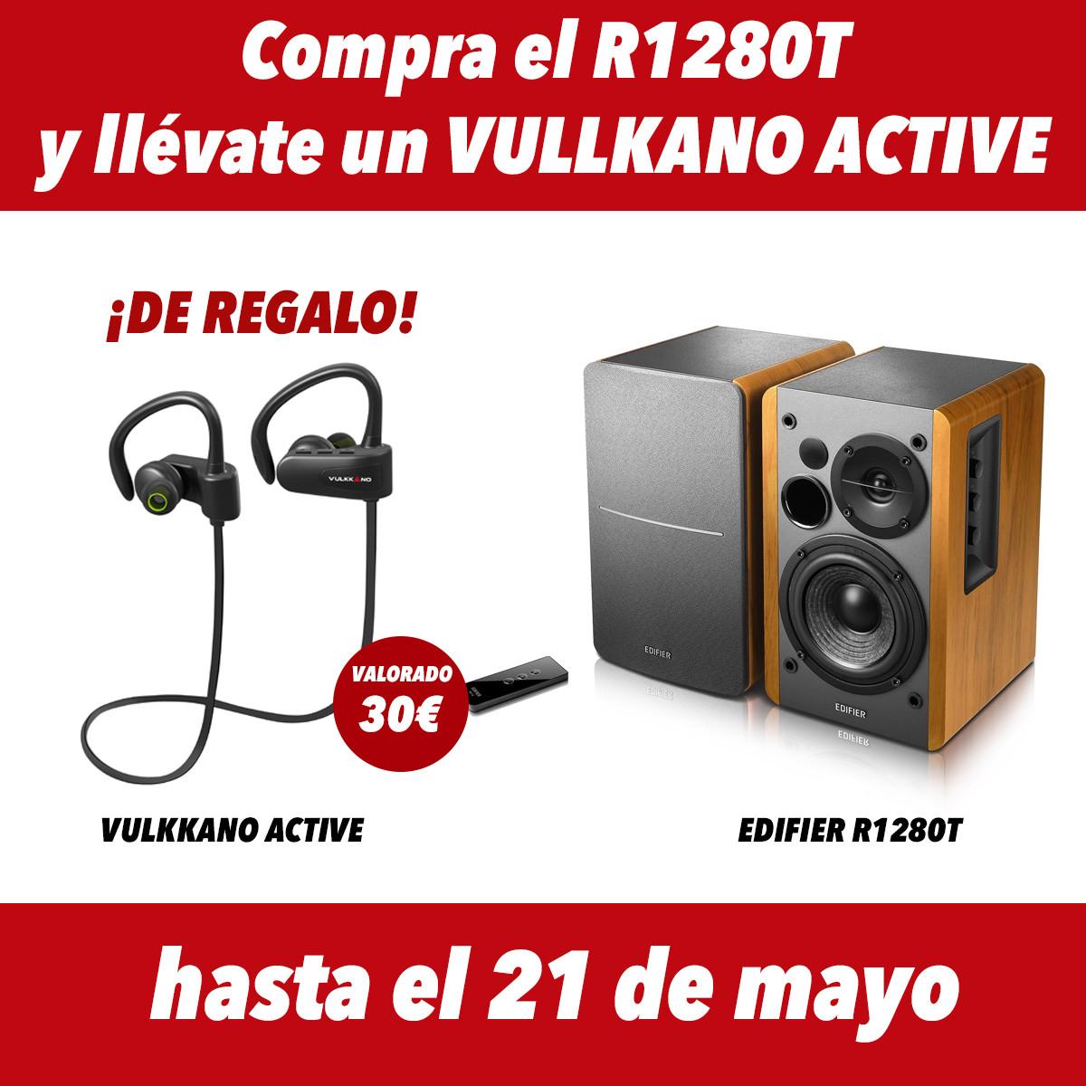 Edifier R1280T + Auriculares Deportivos Vullkano Active