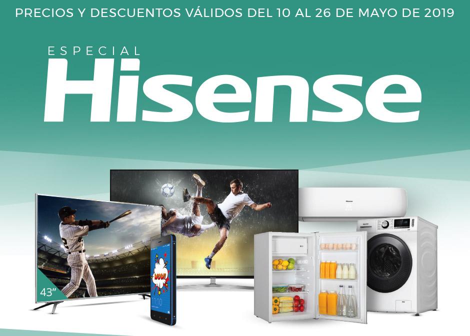 Televisores Hisense, ejemplo 399,9€ 50'' 4K, y electrodomésticos tirados en el Costco