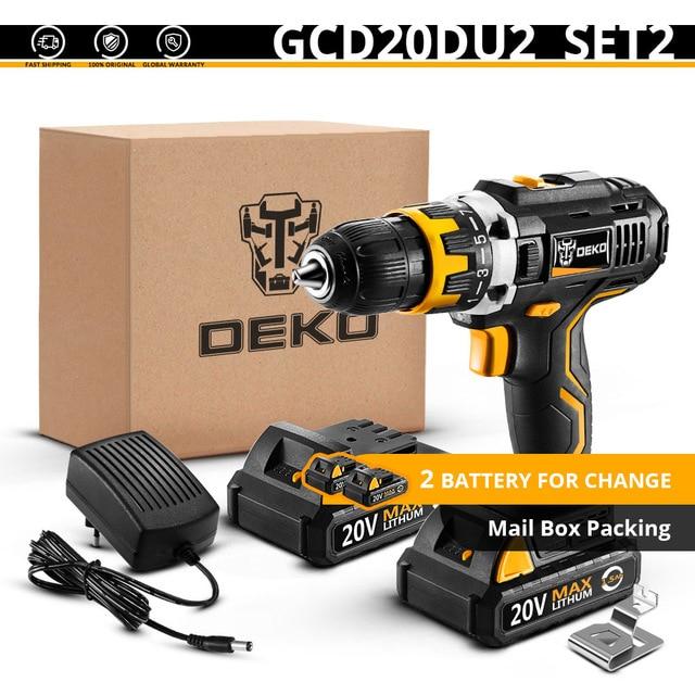 DEKO GCD20DU2 Destornillador eléctrico con 2 baterías 59.13V desde España