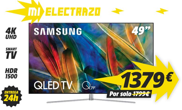 "Televisión SAMSUNG 49"" QE49Q7F - QLED, Smart TV, UHD, 4K, HDR 1500, 3100Hz"