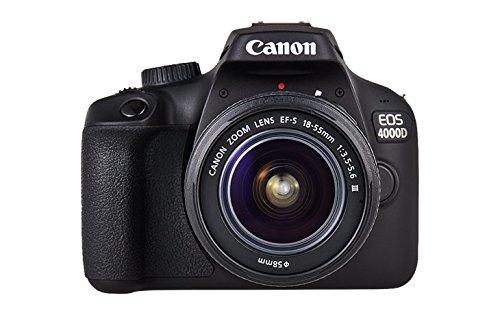 Canon EOS 4000D Camara Con Objetivo EF-S 18-55mm II, 18 MP, Negro