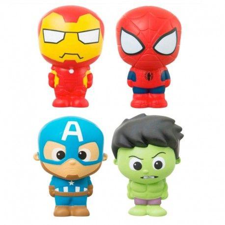 Surtido muñecos personajes Marvel SQUEEZE