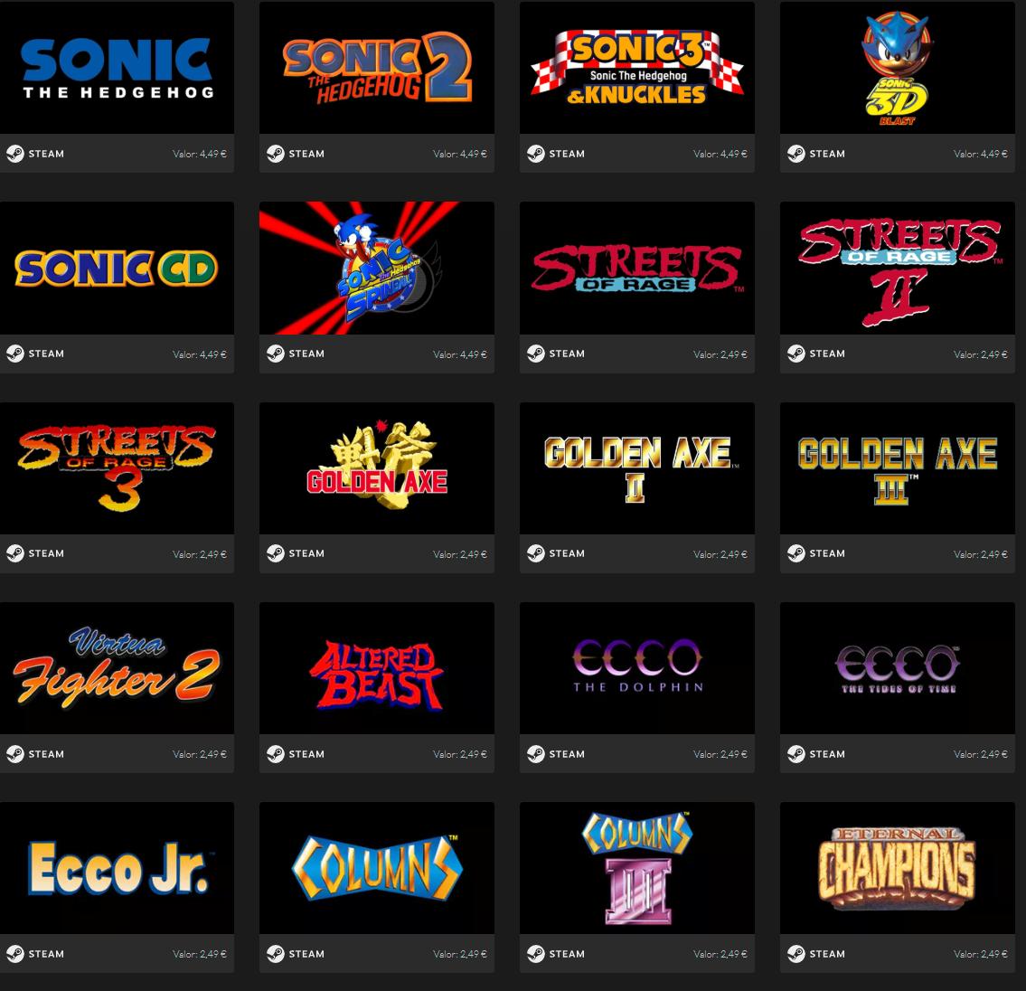 SEGA Mega Drive & Genesis Classics Bundle (59 juegos, Steam)