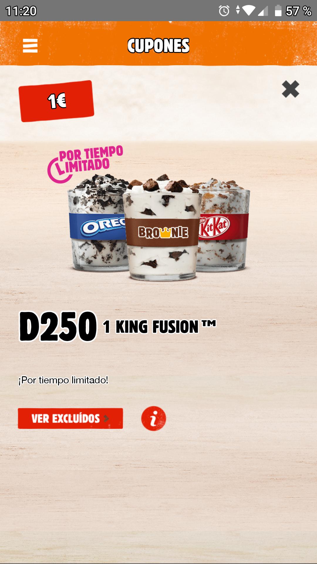 King Fusión por 1€