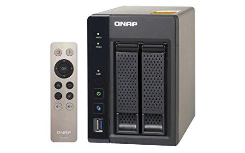 QNAP TS-253A - Dispositivo de almacenamiento en red NAS (Intel Celeron N3150/N3160, 4GB RAM, 4 x USB 3.0, SATA III), negro