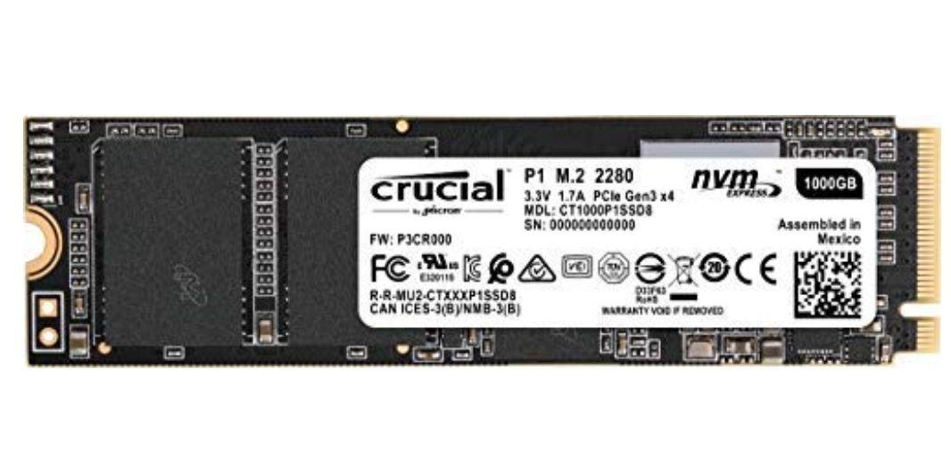 Crucial P1 - SSD 1TB (3D NAND, NVMe, PCIe, M.2)
