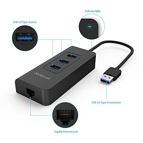 Hub USB 3.0 con puerto Ethernet