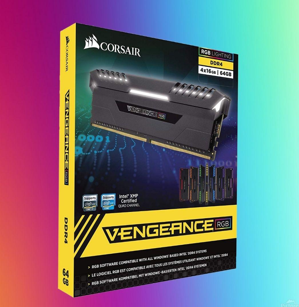 Corsair Vengeance RGB - Kit de 64 GB (4x16 GB), 3000 MHz, C16