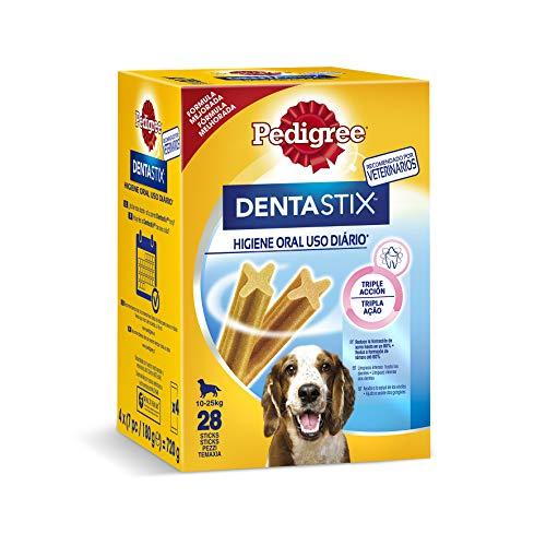 Pack de 28 Dentastix de uso diario para higiene oral para perros medianos