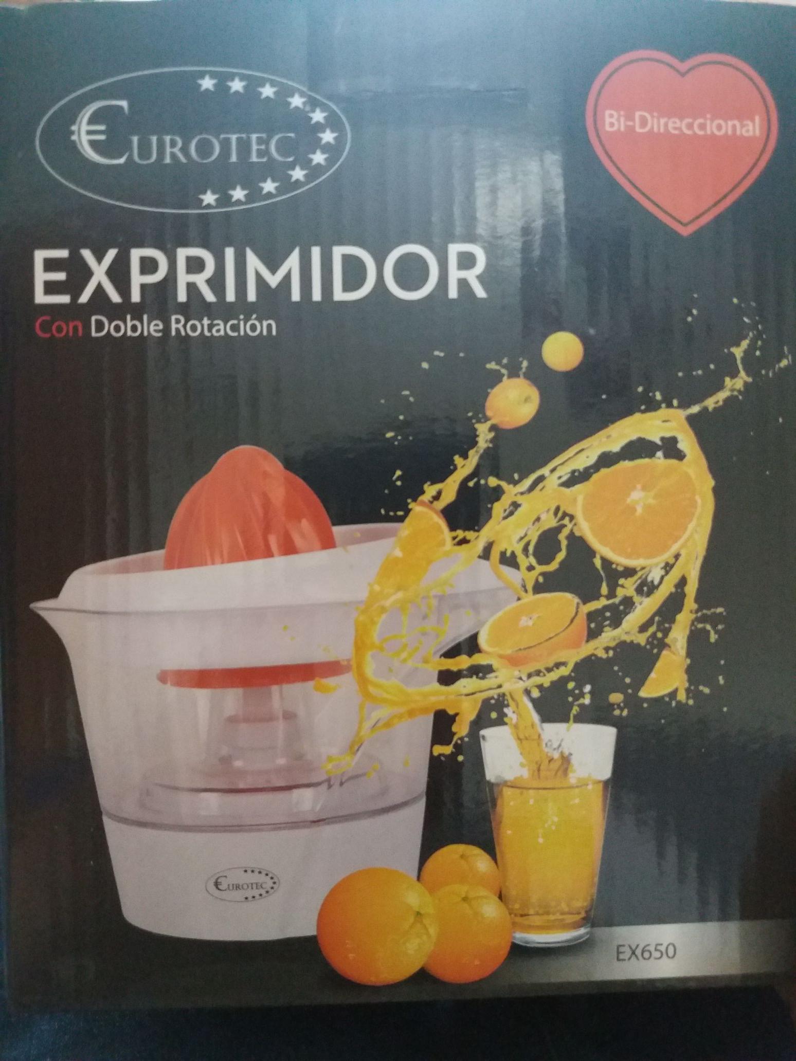Exprimidor eléctrico 6€ en Carrefour (+3€ en Cheque)
