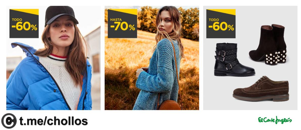 Calzado y ropa todo al 60% y 70%