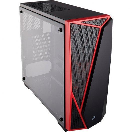 Corsair Carbide SPEC-04 USB 3.0 Cristal Templado Negra/Roja