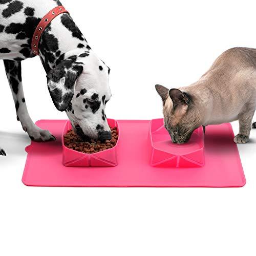 Comedero y Bebedero Plegable para Perros y Gatos