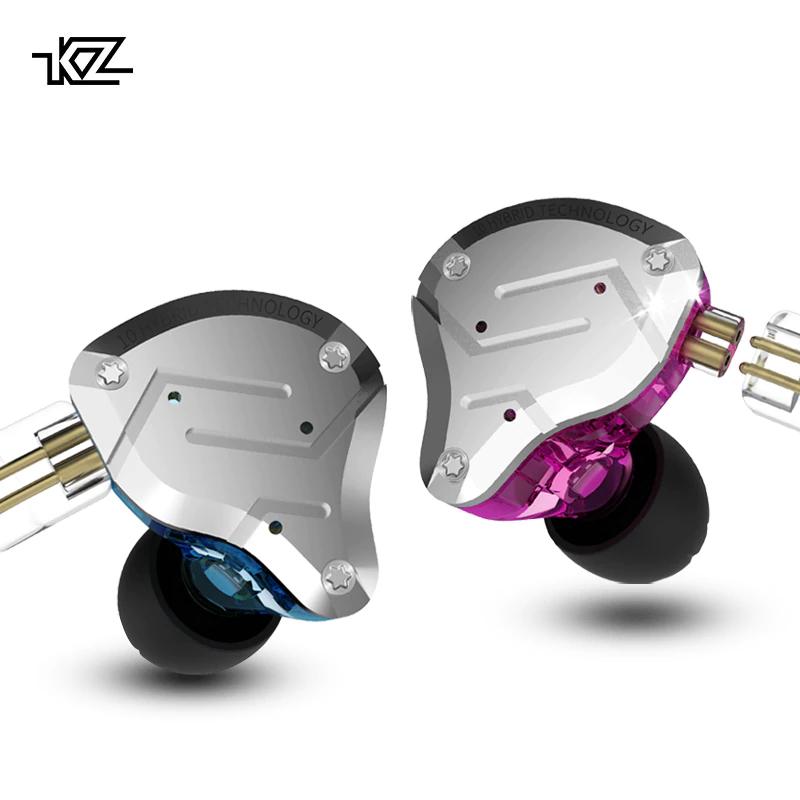 KZ ZS10 - Auriculares híbridos 10 drivers 1dd+4ba, cable reemplazable
