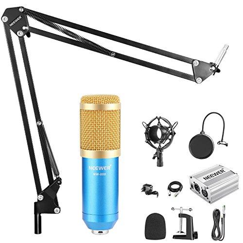 Neewer NW-800 Micrófono Condensador KIT COMPLETO (ACCESORIOS INCLUIDOS)