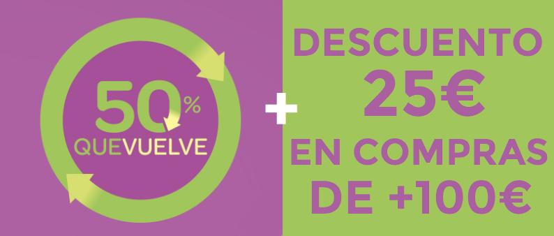 25€ Descuento + 50% Reembolso en Carrefour