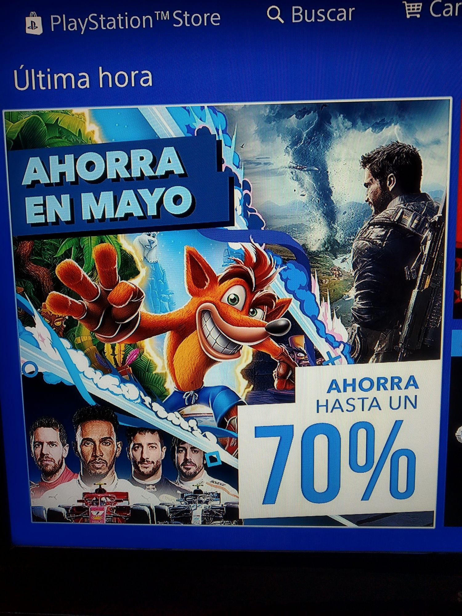 Ahorra en Mayo con PlayStation®4 Store