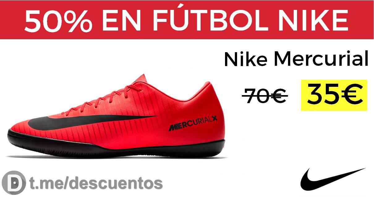 50% en botas de fútbol NIKE