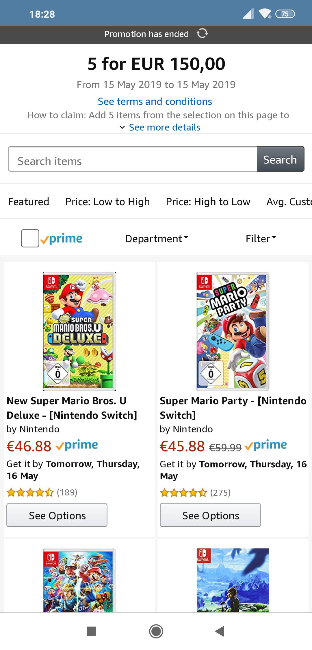 5 juegos switch por 150€