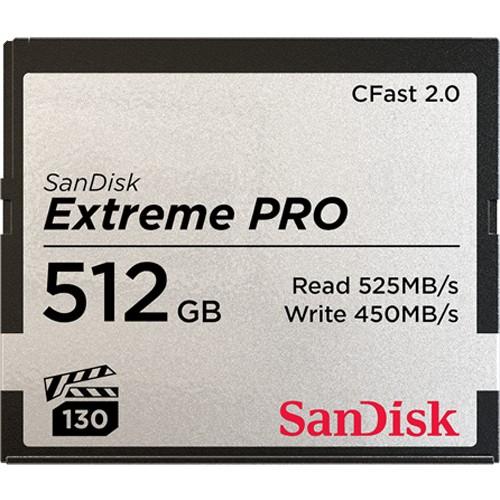 Tarjeta SanDisk CFast 2.0 Pro 525 MB/s