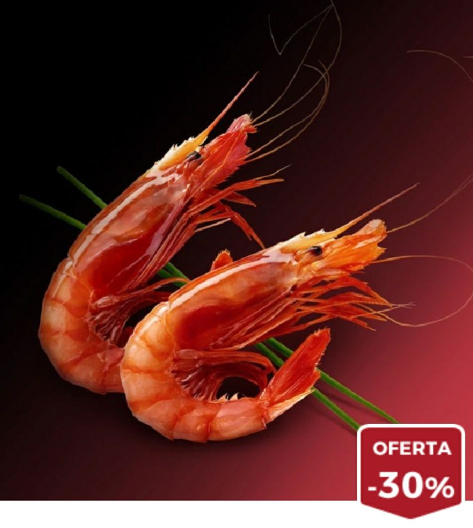 ¡1KG de Gamba Roja al 30%, a precio de sardina!