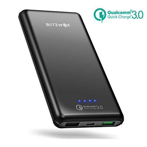Batería Externa 10000mAh, BlitzWolf Carga Rapida 3.0