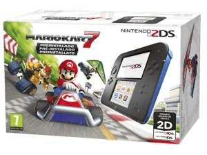 Nintendo 2DS Negra + Mario Kart 7 Preinstalado