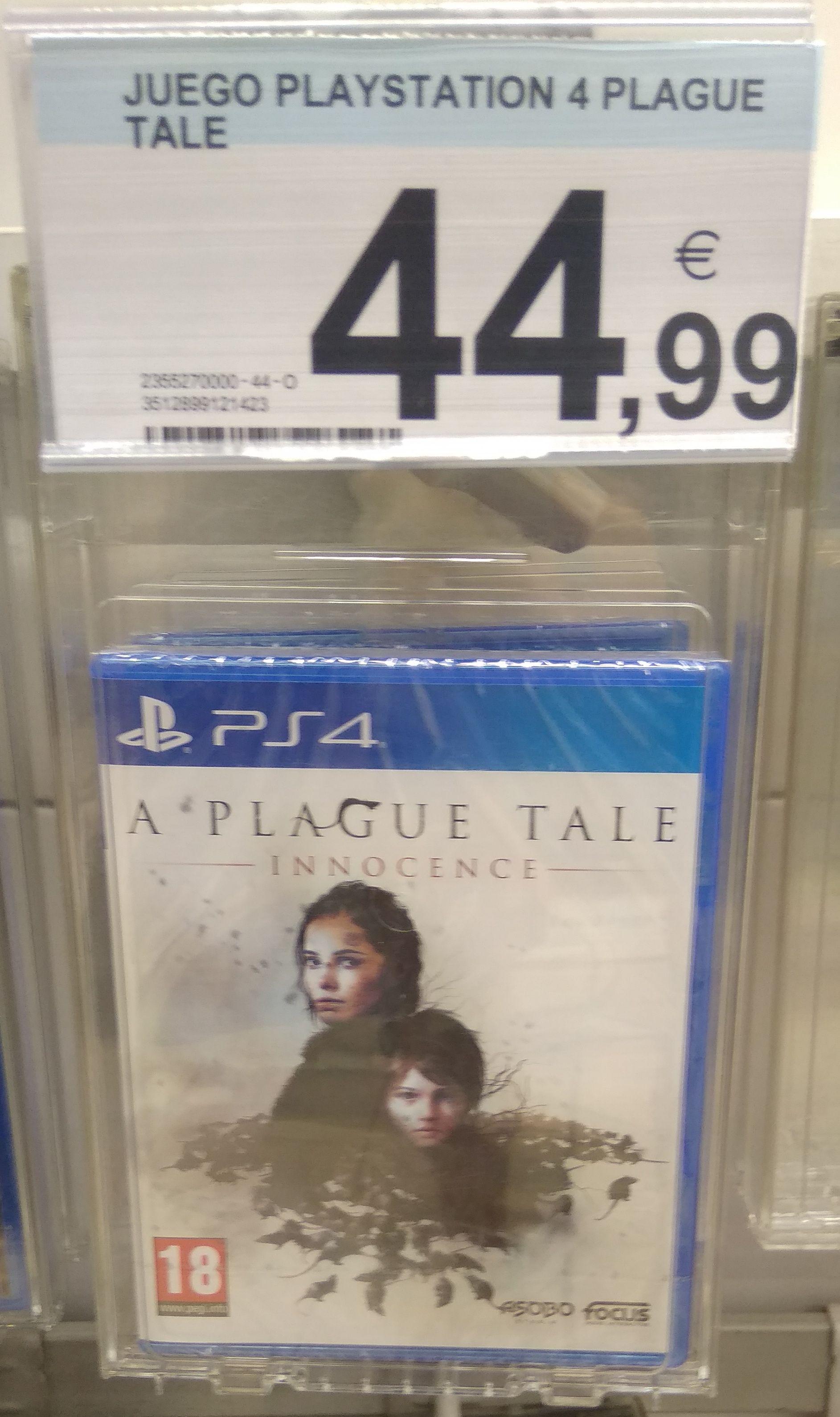 A plague tale PS4 (Carrefour Mar de Cristal Madrid)