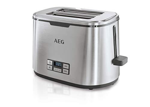 AEG - Tostadora 980 W de acero inox.