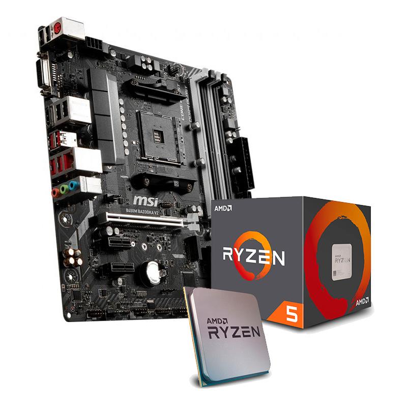 bundle msi/ryzen 5 2600 3.9 Ghz + MSI B450M BAZOOKA V2 + dos juegazos.