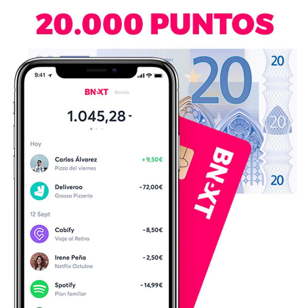 20€ GRATIS al hacerte Bnext + AMAZONx2