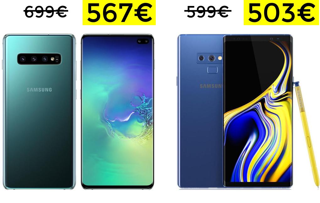 Mínimos en Samsung (desde Europa)